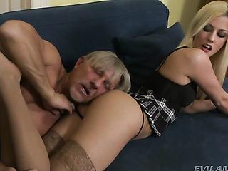 old dude licks schoolgirl