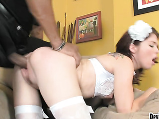 pale slut with perky
