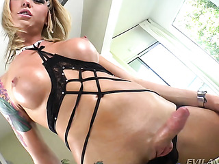 skinny blonde shemale with