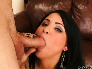 exotic brunette hottie takes