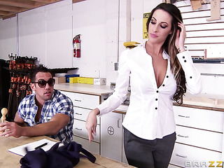 milf white blouse undressed