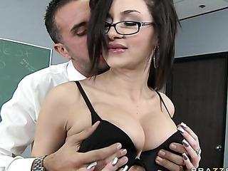busty female satin shirt
