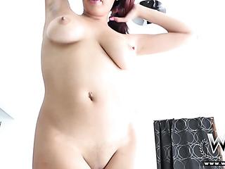 busty ebony white lingerie