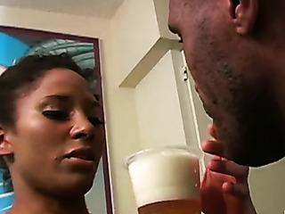 naughty ebony babe gets