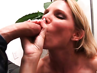teasing blonde with stunning