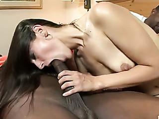 naked brunette babe sits