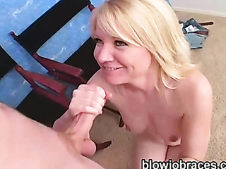 horny blonde slut gags