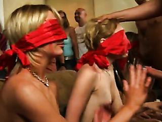 girls blindfolded suck dicks