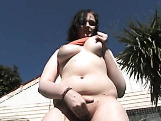 chubby with round tits