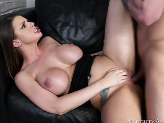 young beauty with enormous