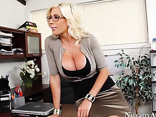 blonde with glasses strips