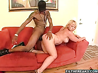 high heeled blonde with