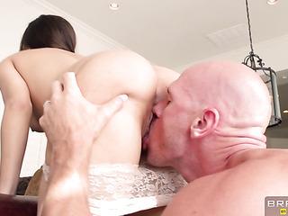 bald man with big