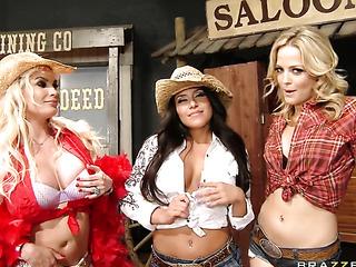 oiled ladies with huge