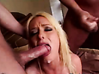 naughty blonde slut black