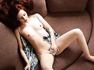 hairy pussy redhead teasing