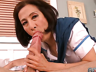 Asian milf cucking