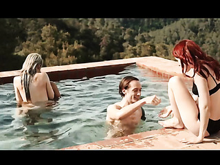 outdoor pool party with