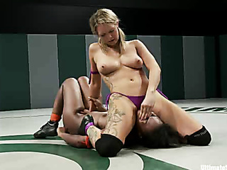 tall blond dominates and