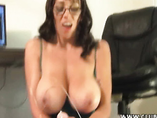big tit mom coaxes