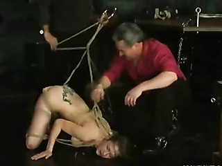 slave suspended from the