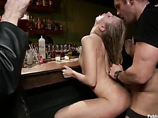 public fucking bar counter