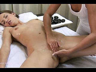 this lesbian masseur knows