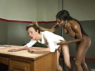 ebony ladyboy fucking white