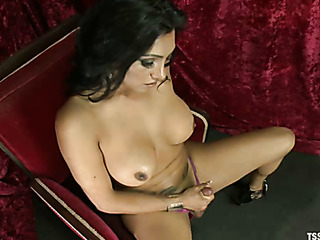 big-titted transsexual hottie makes
