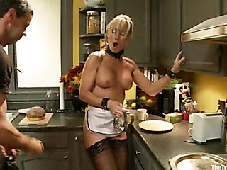 ponytailed blonde milf with
