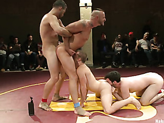 four horny gays fucking