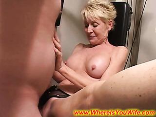 seductive blonde mature housewife