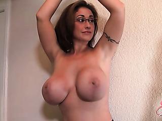 milf glasses and skirt