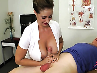 horny nurse with huge