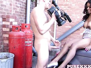 horny dude handling hot