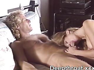 wild blondie pleasing sweaty