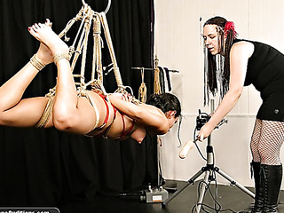 tied beauty gets whipped