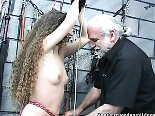 curly-haired honey got tied