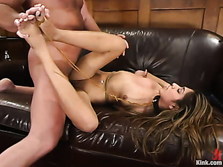 brunette sweetied gets hogtied