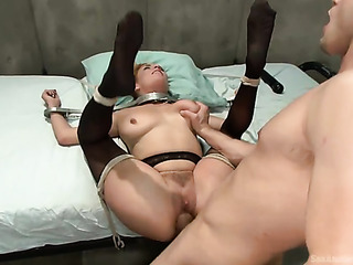 blonde nurse slut gets