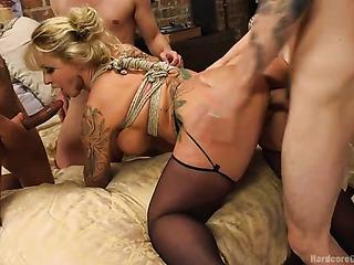 blonde mom sexy stockings