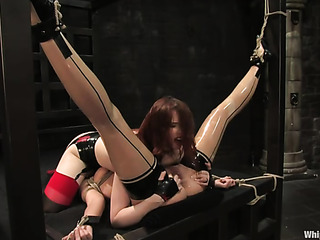 tied and gagged redhead