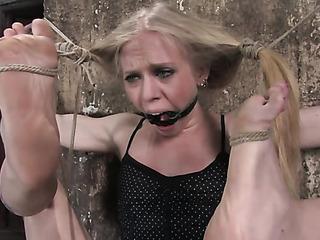 hanged blonde doll will