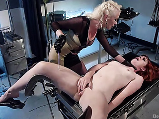 red small-titted bitch gagged