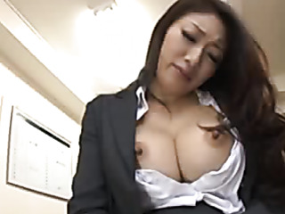 sexy office chick masturbates