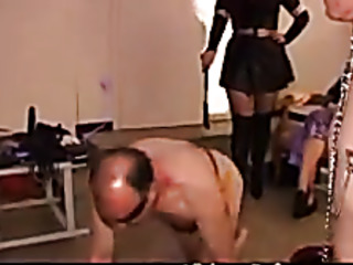 domminatrix humiliates pervy guys