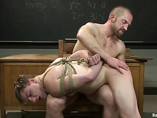 horny gay teacher dominates