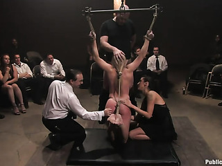tied blonde cock whore