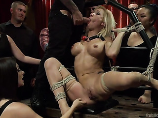 inked blonde whore gets