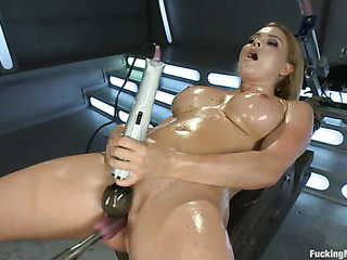 curvy blonde pornstar gets